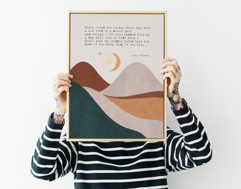 Signore degli Anelli Citazione Art Print JRR Tolkien citazione image 0