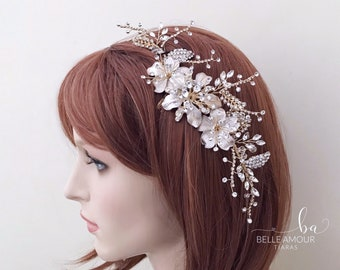 Bridal Headpiece Bridesmaid Hair comb 44 Pearl and Rhinestone Wedding Hair Comb Hair Tiara Hair Jewelry Rhinestone Hairpiece