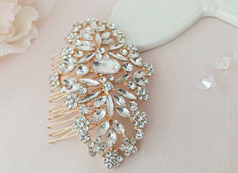 Rose gold hair comb Crystal bridal comb Gold headpiece Rose gold headpiece Bridal hair accessories Burgundy pearl comb Wedding accessories