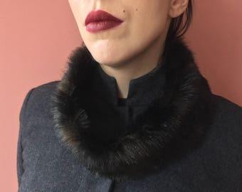Ladies Faux Fur Infinity Scarf in Dark Brown/Prom/Chic Accessory/Birthday Gift Idea/Chic scarf/Wedding Accessory/Tube scarf