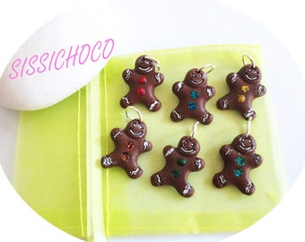 charm set of 6 chocolate gingerbread
