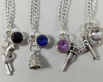 Bioshock Inspired Mini Jewel & Charm Necklaces - Booker, Elizabeth, Jack, and Little Sister