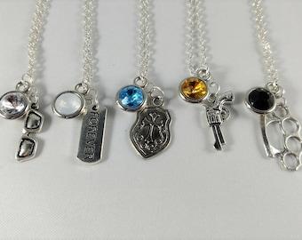Final Fantasy XV Inspired Mini Jewel & Charm Necklaces - Noctis, Prompto, Ignis, Gladio, Luna