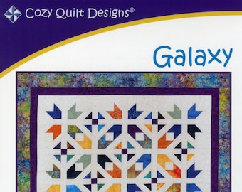 From Cozy Quilt Designs NEW Galaxy Quilt Quilting Pattern A Cozy Strip Club Pattern for 2 12 Strips