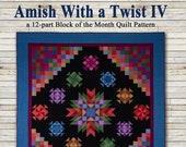 Amish With A Twist Series Four Pieced Quilt Pattern From Nancy Rink Designs NEW, Please See Description and Pictures For More Information