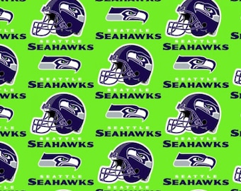 2fe337c90 NFL Seattle Seahawks Allover Football Team Cotton Fabric Sold By The Half  Yard, From Fabric Traditions NEW