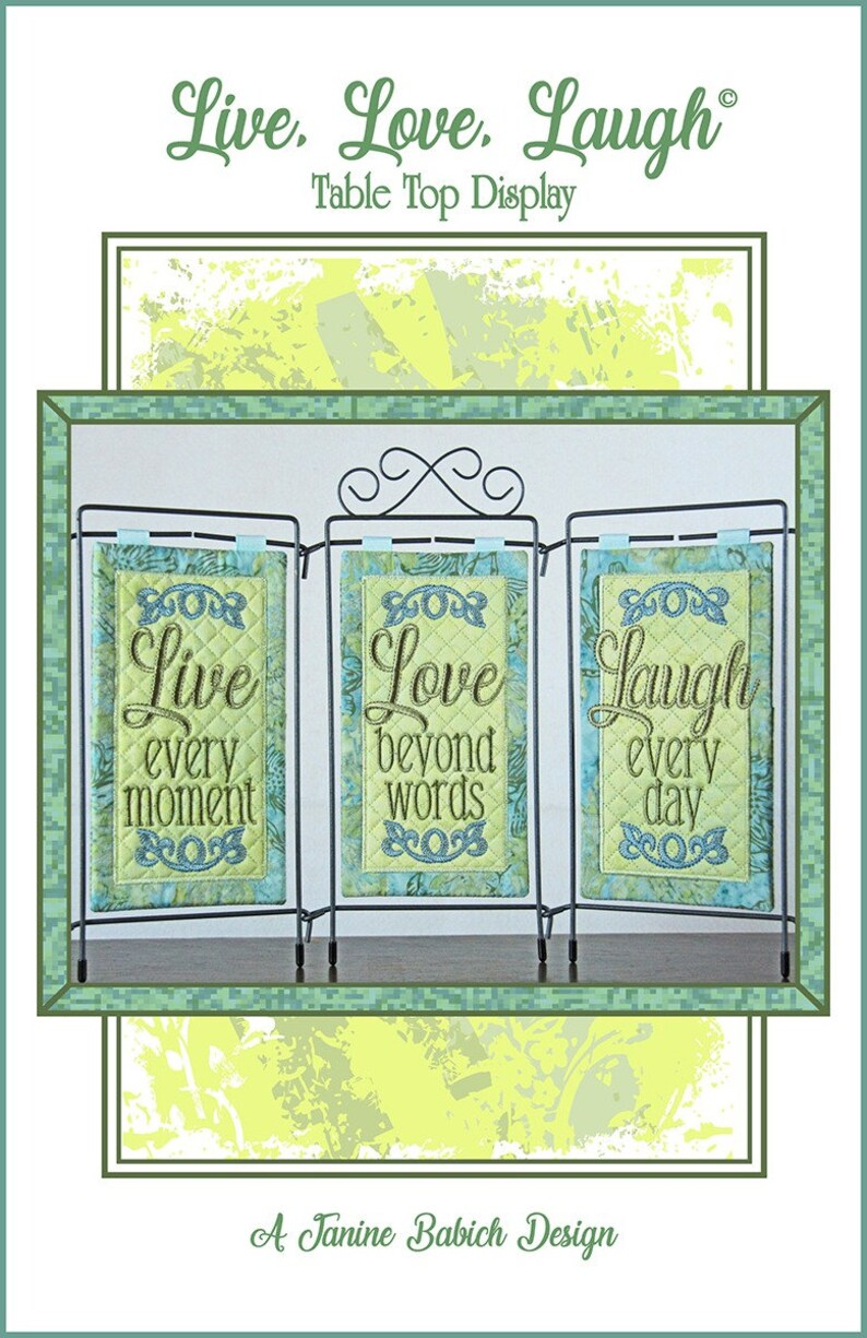 See Description For Details! Laugh Table Top Display Machine Embroidery CD Love Live From Janine Babich Designs NEW