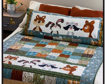 Woodland Flannel Friends Quilt Pattern From The Whole Country Caboodle BRAND NEW, Please See Description and Pictures For More Information!