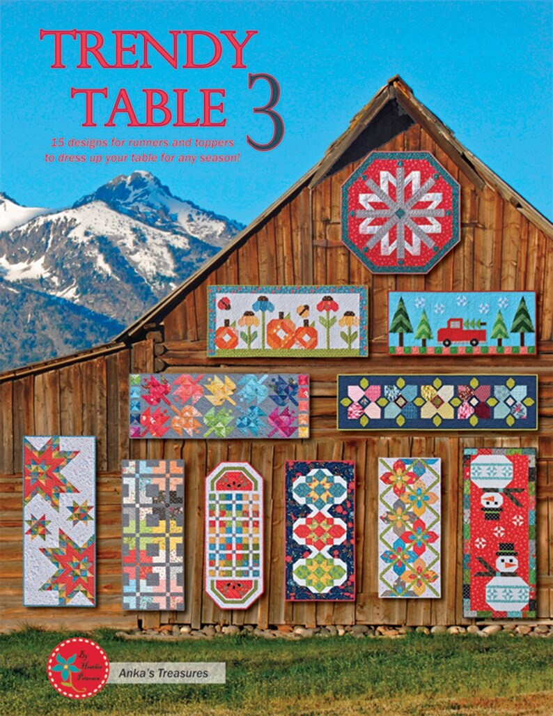 From Anka/'s Treasures NEW Please See Description and Pictures For More Information! Trendy Table 3 Softcover Book Quilting And Sewing