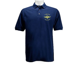 Israel Army IDF Elite Unit Sayeret Matkal Commando ZAHAL navy blue polo style collared t-shirt