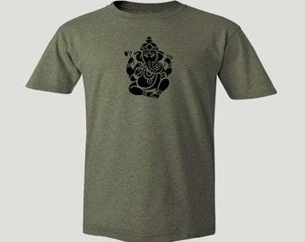Yoga wear Hindu culture Ganesh camel color customized t-shirt