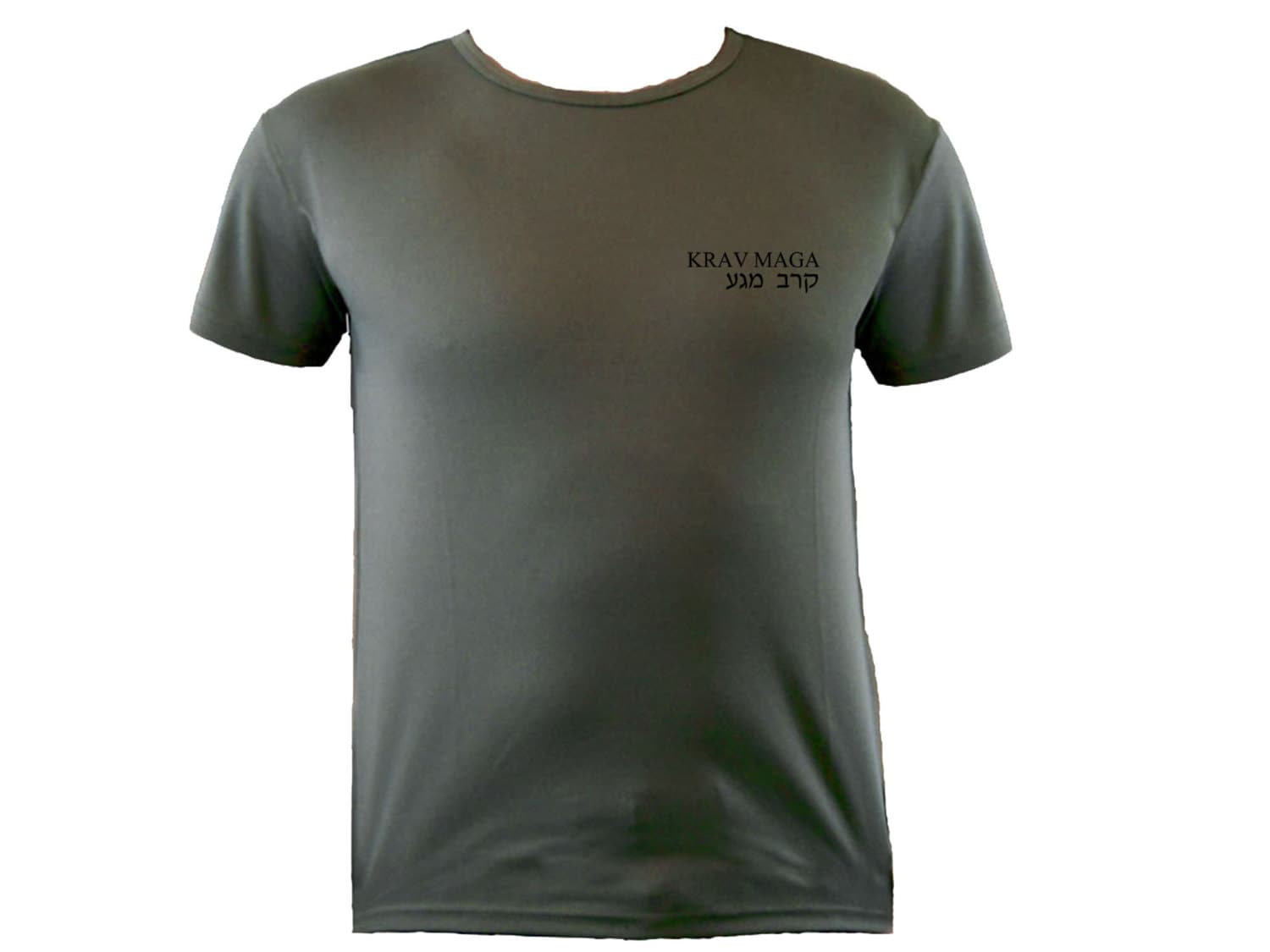 Krav Maga Englishhebrew Moisture Wicking Polyester Od Green Color T-shirt S-xl Unisex Tshirt