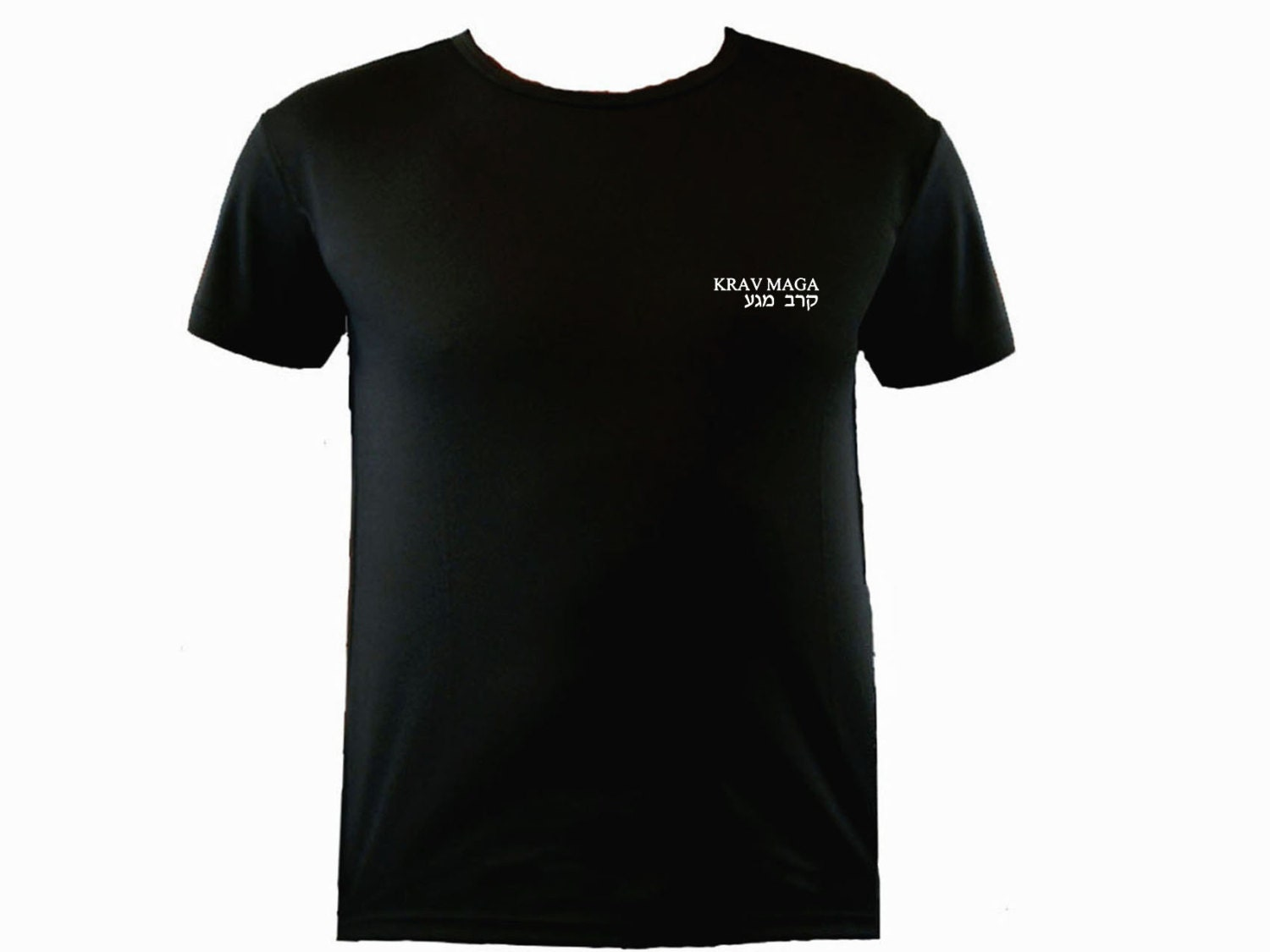 Krav Maga Englishhebrew Moisture Wicking Polyester Black Workout T-shirt S-xl Unisex Tshirt