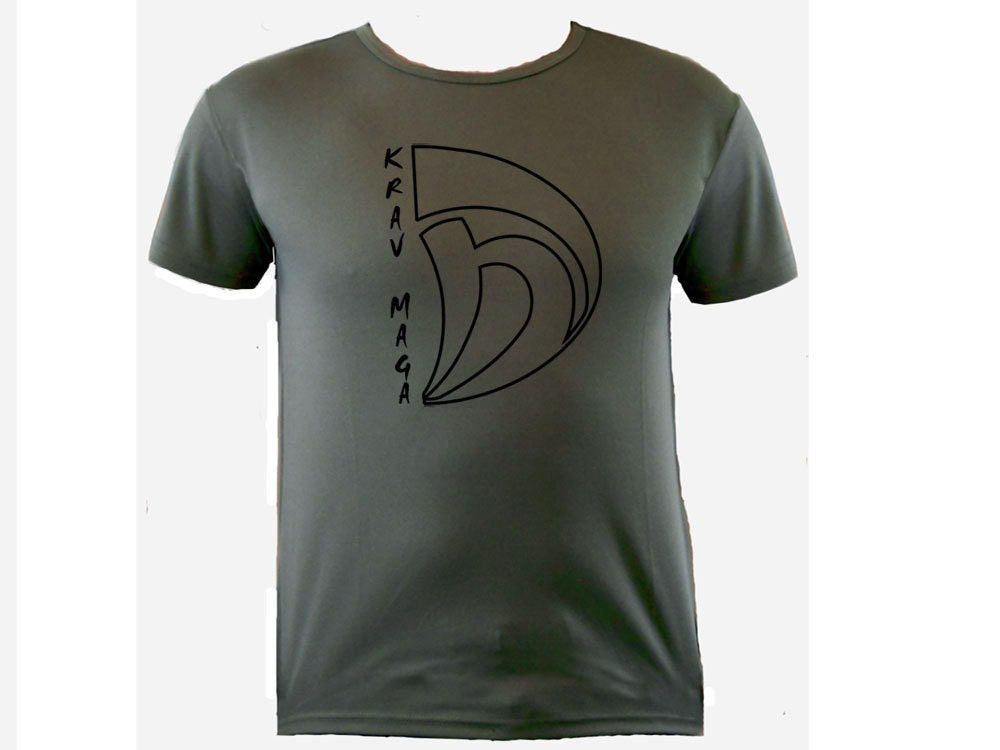 Krav Maga Sports Moisture Wicking Polyester Od Green Color T-shirt S-xl Unisex Tshirt