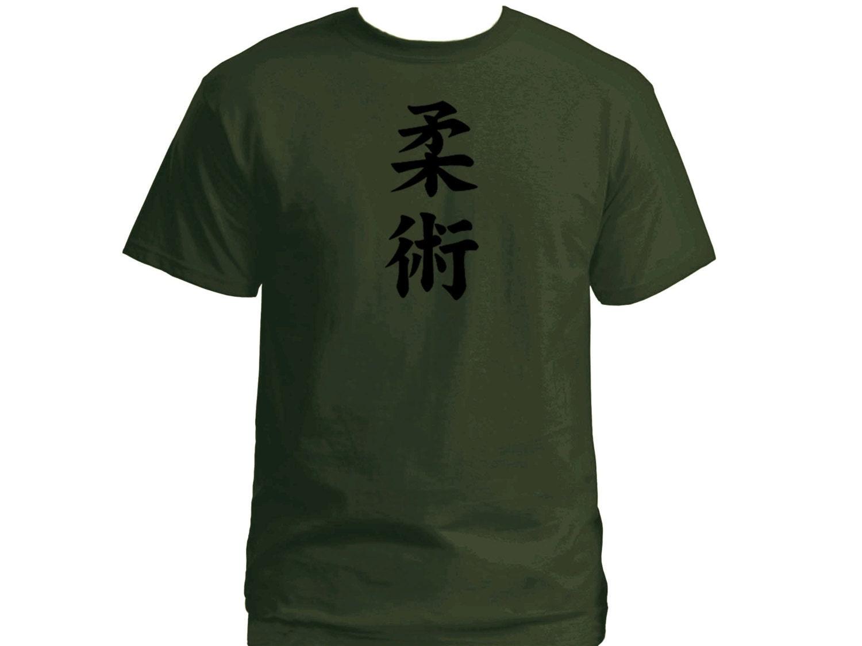 Arts martiaux Jiu jitsu vert armée couleur personnalisé t-shirt homme t-shirt personnalisé 24ff8f