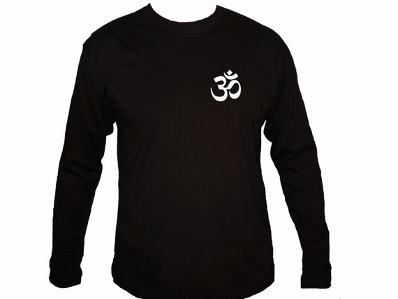 Ohm Aum Om Yoga Symbols Black Customized Silk Printed Long