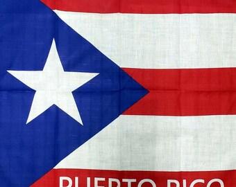 Dog Bandana  La Marcha Bandana  Black and White Puerto Rican Flag  Resistance Flag