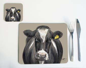 Fresian Cow Placemat/Coaster
