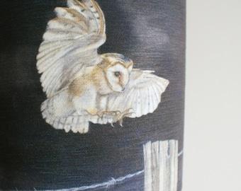 Barn Owl Lampshade/Lamp By Artist Grace Scott