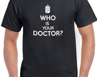 Dr. Who who is your doctor tee tees t-shirt tshirt tops short sleeve men women ladies unisex