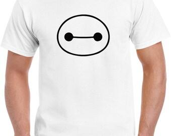 Ladies Disney movie big hero 6 Baymax head eyes black tee t-shirt tshirt tops short sleeve  women ladies unisex