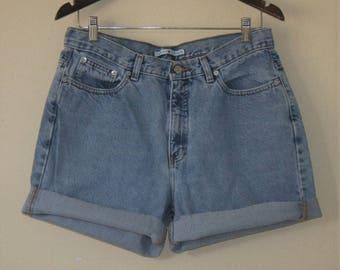 Vintage Tommy Hilfiger High Waisted Cut Off Shorts // 32 Waist