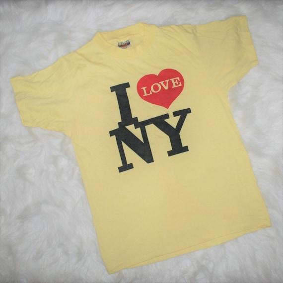 1970/80s Vintage I Love NY T-Shirt Size Small/Medi