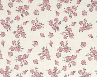 "Riley Blake ""Think Pink"" by The RBD Designers Think Floral Cream 1 Yard Cut C3702"