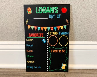 Back to School Chalkboard Sign, Milestone and Favorites Chalk board Sign, School Chalkboard, First and Last Day of School Sign, Poster