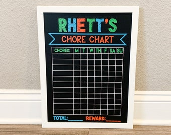 Reusable Personalized CHORE CHART, custom chore chart for kids, Kids Chores, Kids Chore Chart, Responsibility Chart, customize the chores