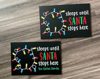 Christmas Countdown Sign, Countdown to Christmas chalkboard, Sleeps Until Christmas countdown, personalized Christmas decorations
