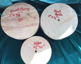 903combo rock maple,black cherry, alder bowl blanks dry,centered Vermont wood