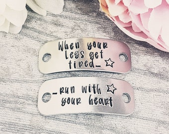 motivation. ICE Trainer tags gym and fitness Gift for a runner Inspirational Personalised bling marathon or half marathon gift