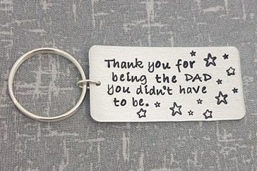 Step Dad Keyring Thank You Step Dad Quote Thank You For Etsy