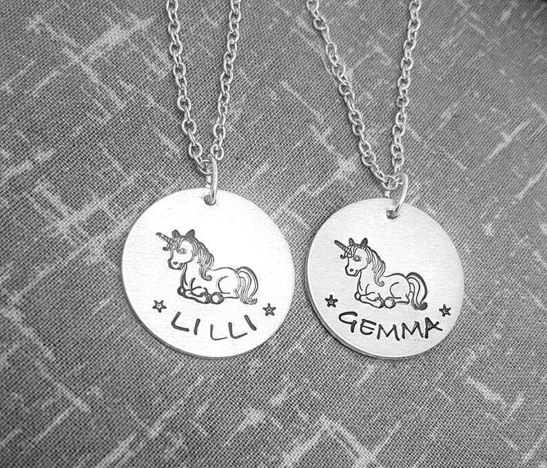 Unicorn name necklace