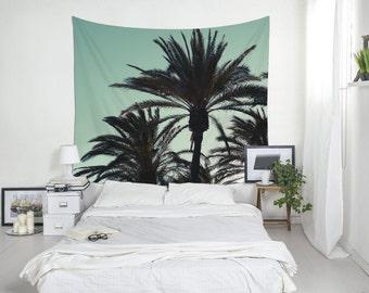 Palm Tree Tapestry, Tropical Wall Art, Bedroom Wall Decor, Palm Trees Photo, Summer Decor. MG033