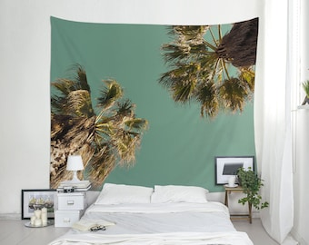Beach Tapestry, Home Gifts, Tropical Decor,  Palm Trees, Tropical Wall Art, Tree Tapestry, Home Decor, Wall Hanging, Fabric Wall Art. MG039