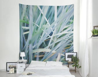 Blue Leaf Tapestry, Nature Wall Decoration, Leaf Wall Art, Large Wall  Tapestry, Large Tapestries, Fabric Wall Hanging Art. UL118