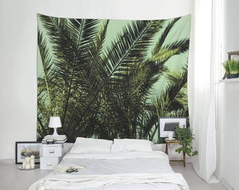Tropical Tapestry, Palm Tree Art, Palm Leaf Tapestry, Tropical Wall Decor, Home Decoration. MG031