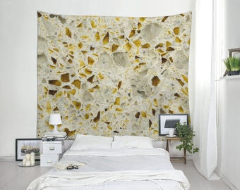 Quartz Tapestry, Beige Wall Decor, Mineral Photography, Wall Blankets,  Large Wall Tapestry, Hanging Tapestry, Fabric Wall Hangings. MW096