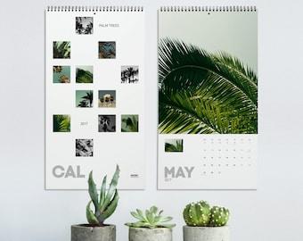 Palm Tree Calendar 2022, Tropical Calendar, Wall Calendars, Nature Photography, Elegant Calendar, Wall Decoration, Office Decor. MGCAL1