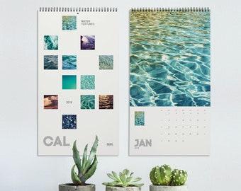 Calendar 2022 Water Textures, Ocean art abstract photography, Nautical Water Art, Wall Calendar for home or office decor. ULCAL2