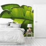 Banana leaf wall mural, custom size