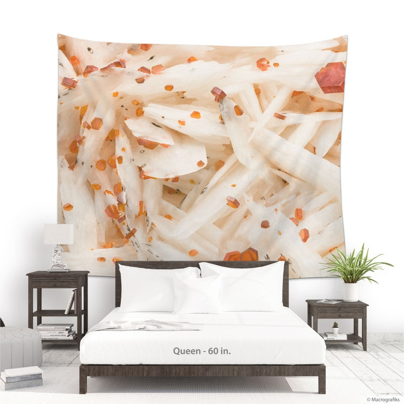 Wall tapestry with a Vanadinite crystals photo for wall image 0