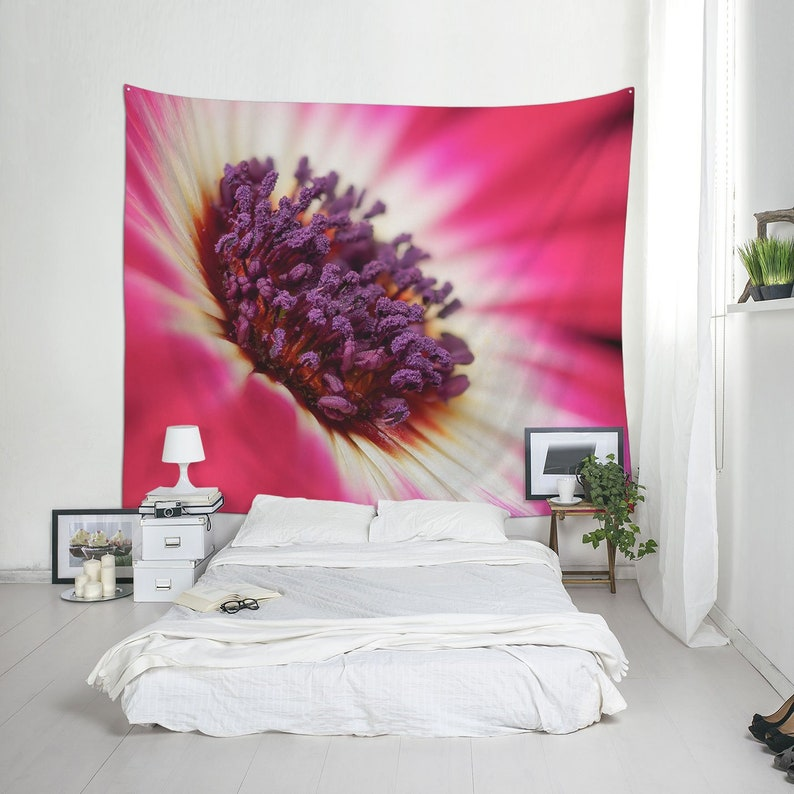 Flower girl gift for wall decoration Floral fabric hanging image 0