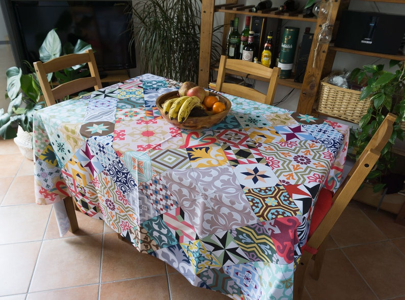 Yellow sunset fabric tablecloth UL126 Beach decor Landscape photograph printed on polyester fabric for kitchen or event decoration