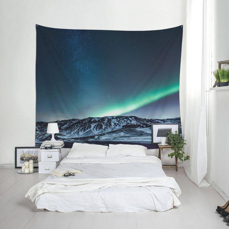 Northern Lights wall tapestry Aurora Borealis wall image 0