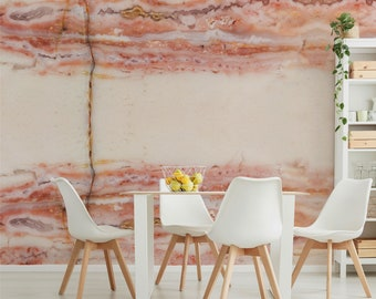 Pink Opal wall mural, Bling wall art for a contemporary decor, Hotel wall covering, Interior design, Rock wallpaper. MW152