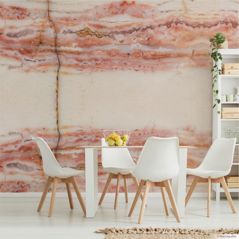 Pink Opal wall mural Bling wall art for a contemporary decor image 0