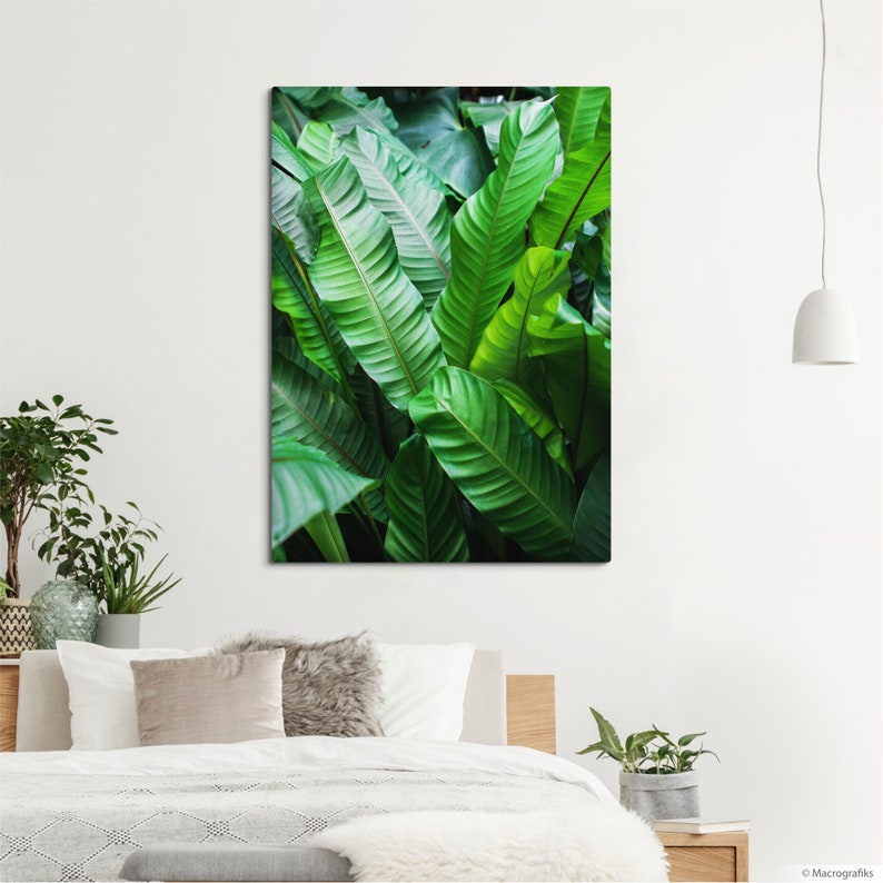Leaves wall canvas for home decoration or plant shop decor image 0